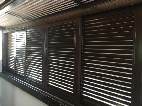 How to install aluminum louvers on windows?